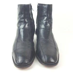 FLORSHEIM|Black Leather Ankle Boots Size 10.5D